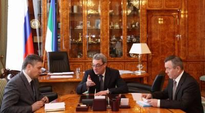 Встреча В.М. Гайзера с В.В.Шарковым и Я.С.Зиняком